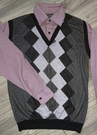 Рубашка обманка жилетка