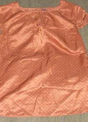 Красивая блуза в горошек шелк хлопок /англ 14