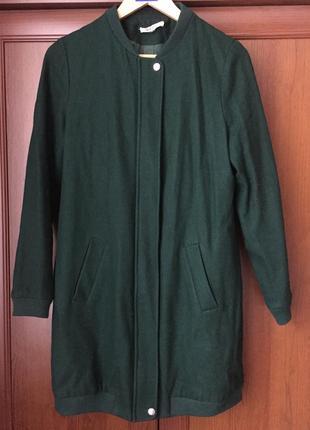 Шикарне пальто-бомбер шерсть/вишивка/підклада/зміїка/закльопки/фірми nikkie/розмір м