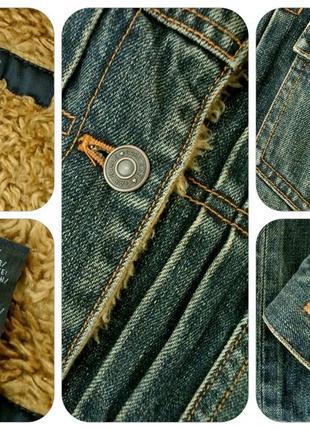 """Стильная брендовая джинсовая куртка """"gap"""" на меху. размер l.5 фото"""