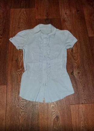 Красивая рубашка для девочки , 9-11 лет