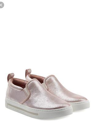 Слипоны от marc by marc jacobs pink metallic crosta cute kicks slip on sneakers
