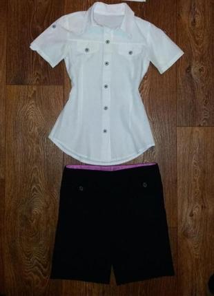 Белая блуза для девочки 9-11 лет