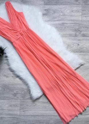 Шикарное плиссированое платье миди