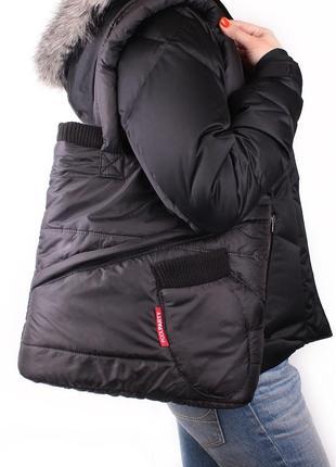 Оригинальная стёганная зимняя сумка под пуховик!