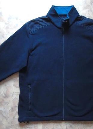Синяя мужская флиска 50-52