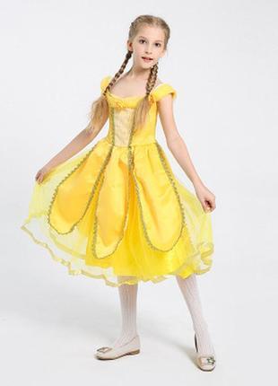 Карнавальный костюм принцессы белль на девочку 110