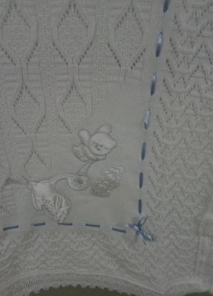 Детский плед-крыжма. подарок новорожденному.3 фото