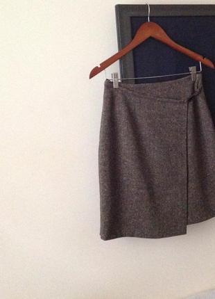 Спідниця шерсть люкс бренду orwell skirt wool plus lycra оригінал кашемир юбка s