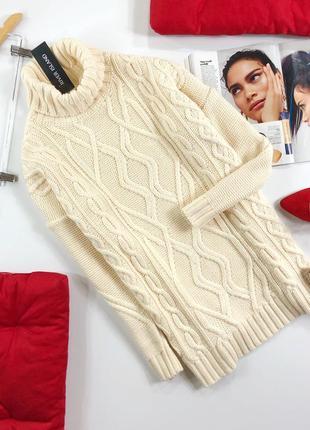 Удлиненный свитер в косы оверсаз river island