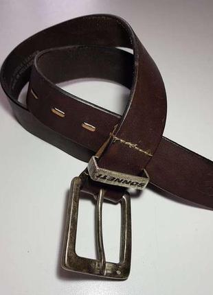 Ремень кожаный sonnetti holland, 90 см. в хорошем сост.
