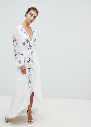 Hope and ivy ексклюзивна вишита сукня на запах