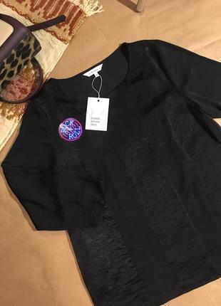 Черная вечерняя блуза с отливом & other stories