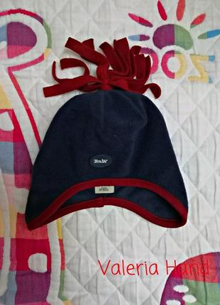 Легкая демисезонная флисовая шапка h&m - возраст 0-3 месяца