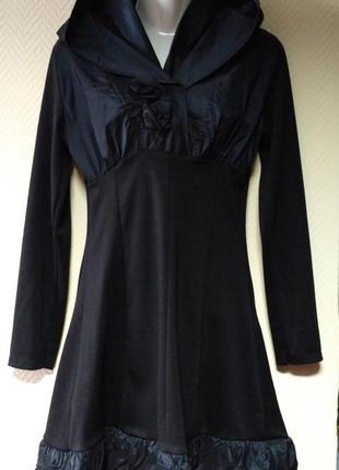 Платье черное теплое оригинальное