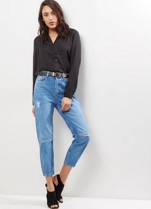 Мом высокая посадка джинсы mom new look 12 размер