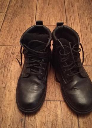 Ботинки натуральная кожа зимние очень теплые черевики шкіряні теплі зимові 2 в подарунок