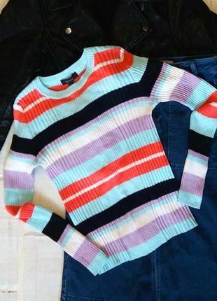 Распродажа!!!! супер позитивный яркий свитер в рубчик от atmosphere