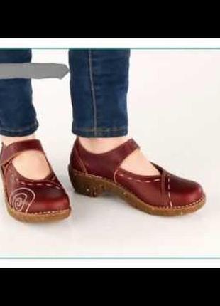 Туфли в  мэри джейн стиле из натуральной кожи el naturalista.