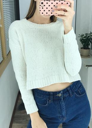 Укороченный плюшевый свитер fb sister