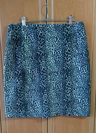 Теплая/зимняя юбка/леопардовый принт