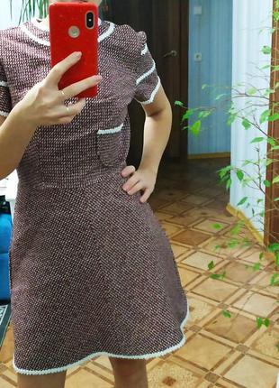Тренд сезона - теплое твидовое платье