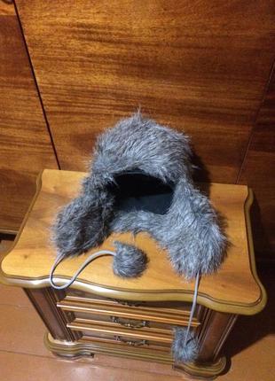 Next шапка ушанка меховая женская