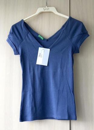 Синяя футболка united colors of benetton, s, хлопок