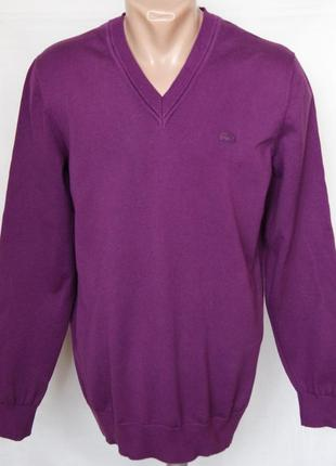Пуловер фиолетовый 100% хлопок