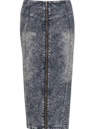 Джинсовая миди юбка карандаш select