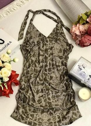 Нарядное платье, сексуальное платье, новогоднее платье 👗 в змеиный принт, pimkie