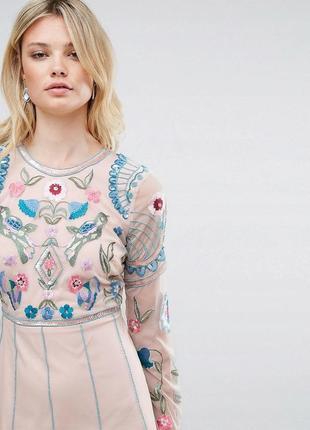 Frock and frill tall розкішна подвійна вишита сукня 7ec9f3356d981