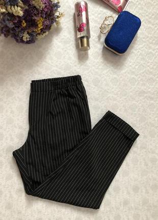 Брюки- штаны в полоску 40- размер l tally weijl