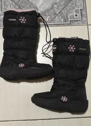 Зимние термо сапоги дутики для девочки