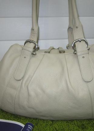 Стильная кожаная сумка французского бренда katana нат. кожа