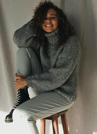 Стильный свитер оверсайз из шерсти альпаки♥