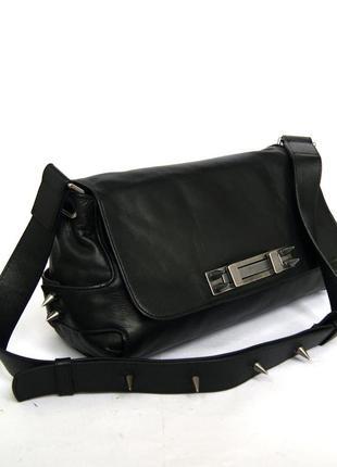 Эксклюзивная кожаная сумка на плечо от zara