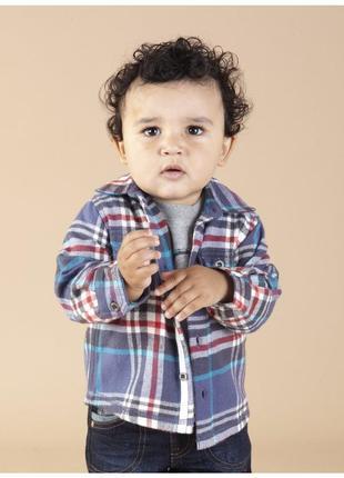 Детская утепленная рубашка mothercare.