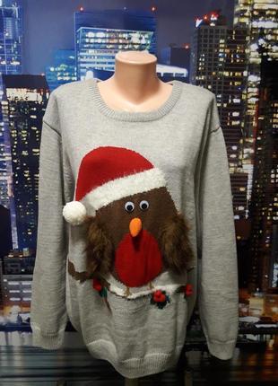 Мега крутой свитер новогодней тематике с рисунком 3d
