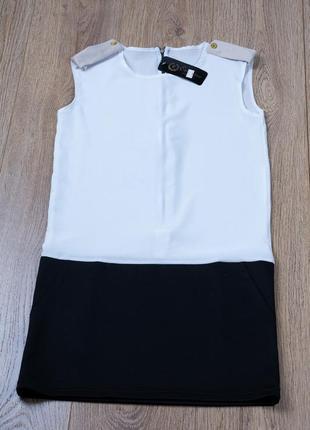 Новое платье без рукава - мероприятие, фотосессия - шифон + трикотаж - размер s