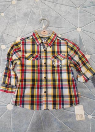 Детская рубашка mothercare.