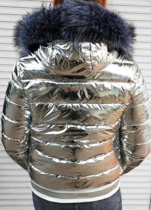 Зимняя куртка с мехом холофайбер разные размеры