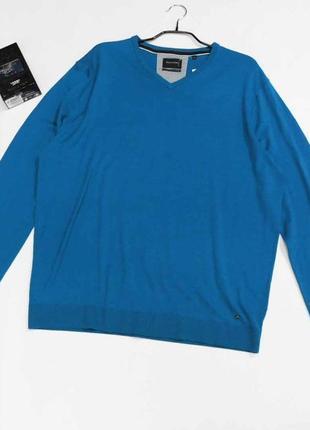 Симпатичный чистошерстяной мужской полувер ,свитер германия, размер xxl, на 52-54 наш