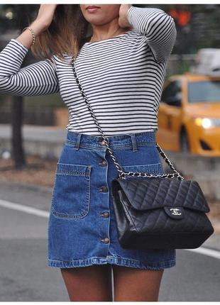 Zara джинсовая юбка трапеция на пуговицах
