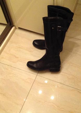 Чоботи шкіряні утеплені бренду dune leather оригінал сапоги 39