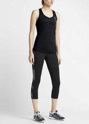 Спортивная майка топ от nike running dri-fit оригинал для тренировок/фитнеса/бега l