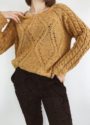 Горчичный свитер от marks&spencer