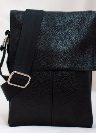 Акция! мужская кожаная сумка 21*16 см  натуральная кожа 100%!