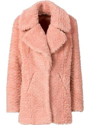 Актуальная эко шубка шуба полушубок rainbow pink в стиле max mara teddy  bear coat 7221b5a79de70