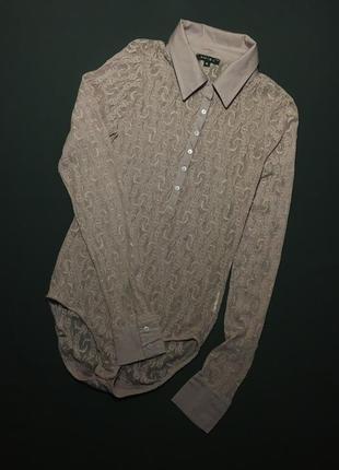 Нарядный гепюровый комбидрес-рубашка amisu s-m